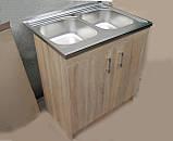 Подвійна мийка з тумбою 80х60, фото 3