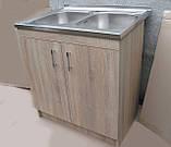 Подвійна мийка з тумбою 80х60, фото 4