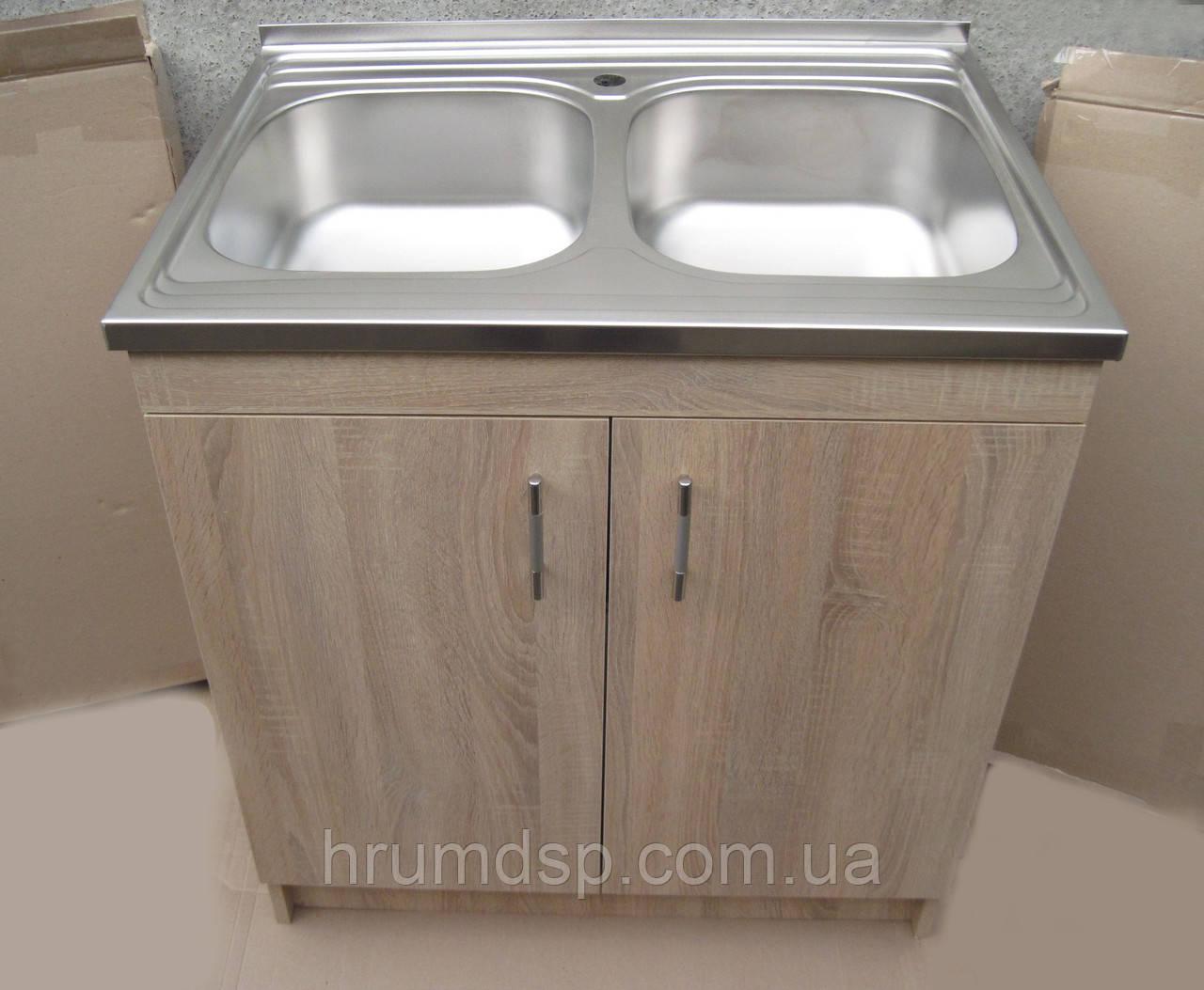 Подвійна мийка з тумбою 80х60