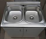 Подвійна мийка з тумбою 80х60, фото 8