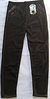 Брючные лосины с карманами на меху под джинсы™Алия  батал 7-9 XL