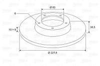 Диск тормозной передний HYUNDAI VERNA (Производство VALEO PHC) R1011, фото 1