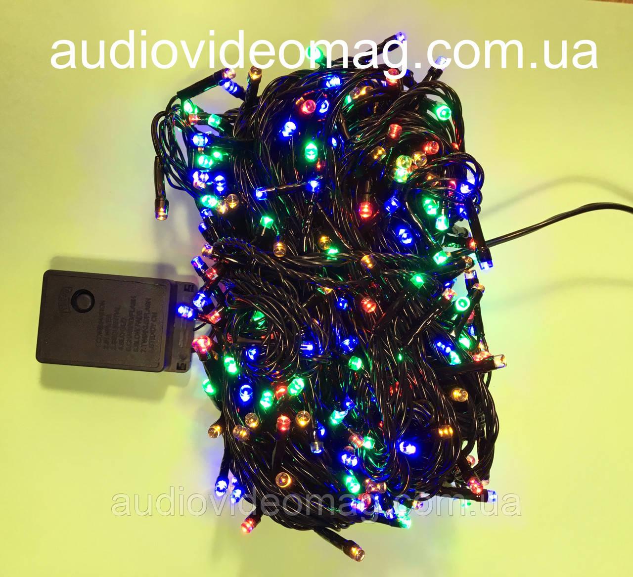 Новогодняя гирлянда - 400 светодиодов, 4 цвета, 8 режимов свечения