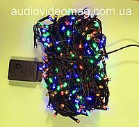 Новогодняя гирлянда - 400 светодиодов, 4 цвета, 8 режимов свечения, фото 1