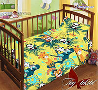 Детский комплект  в кроватку с прост. на резинке Джунгли