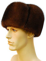 Обманка мужская норковая шапка (орех)