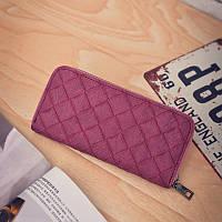 Женский кошелек портмоне на молнии бордовый