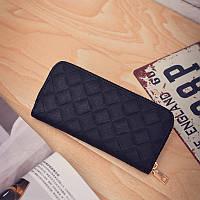 Женский кошелек на молнии черный, фото 1