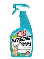 SIMPLE SOLUTION Сверхмощное концентрированное жидкое средство для нейтрализации запахов и удаления стойких пятен от жизнедеятельности кошек, 945 мл