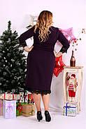 Женское платье с вырезом внизу 0660 цвет баклажан / размер 42-74 / большой размер , фото 4