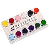 Набор акриловых красок с кистями для росписи