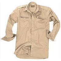 Рубашка Mil-Tec длинный рукав рип-стоп койот