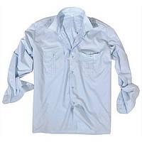 Рубашка повседневная Mil-Tec голубая длинный рукав