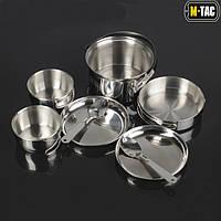 Набор походной посуды на две персоны M-Tac нержавеющая сталь