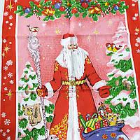 Готовое полотенце Новогоднее с Дедом Морозом  47х70 см, фото 1