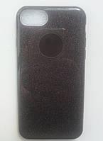 Силиконовая накладка Gliter для Iphone 7Plus/8Plus (Black)