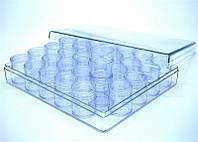 Баночки закрутки, столбик, прозрачные, круглые 12 мл, в наборе 30 шт, тара пустая