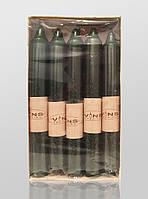 Свеча столовая тёмно зелёная 170х20 мм (10 штук)