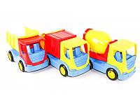 """Детская игрушка машинка WADER """"Бетономешалка, мусоровоз, самосвал"""""""