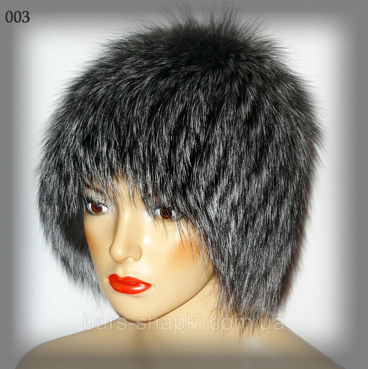 Женская зимняя шапка из чернобурки