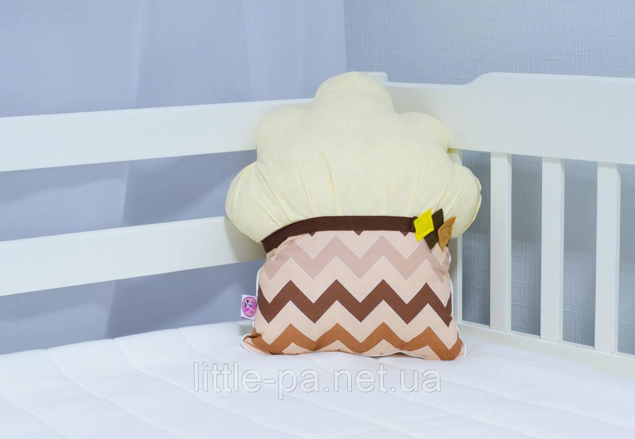 """Декоративная подушка в детскую """"Маффин шоколадный"""""""