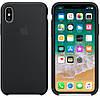 Силиконовый чехол Apple Silicone Case IPHONE Х / XS (Black) Премиум качество !