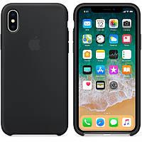 Силиконовый чехол Apple Silicone Case IPHONE Х / XS (Black) +5D Стекло !!!