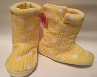 Сапожки для дома тапочки р35 желтые арт7086
