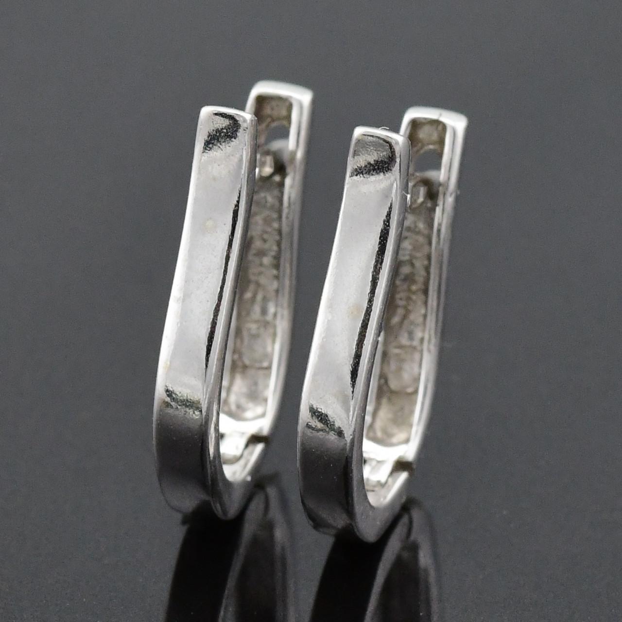 """Серебряные серьги """"Эмма"""", размер 18*3 мм, вес 2.25 г"""