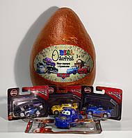 Яйцо мега-сюрпризc игрушками фигурками машинками из мультфильма Тачки (малое)