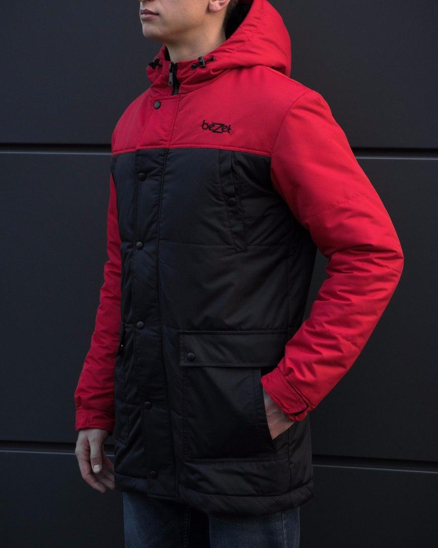 Зимняя parka beZet '17 red/black