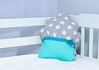 """Подушка для детской кроватки """"Маффин мятный"""""""