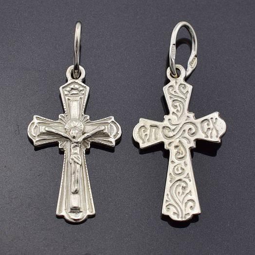 Серебряный крестик Православный, размер 30*15 мм, вес серебра 1.67 г