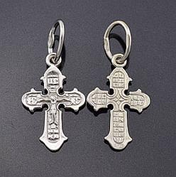 Серебряный крестик Православный, размер 25*12 мм, вес серебра 0.71 г