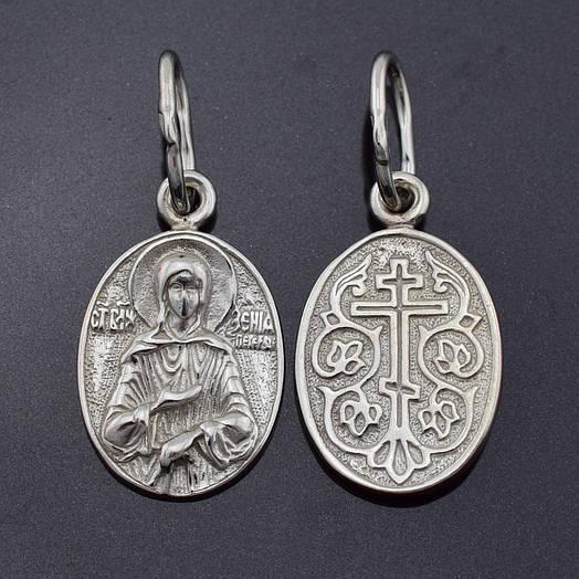 """Серебряная иконка """"Святая Ксения"""", размер 25*11 мм, вес серебра 1.66 г"""