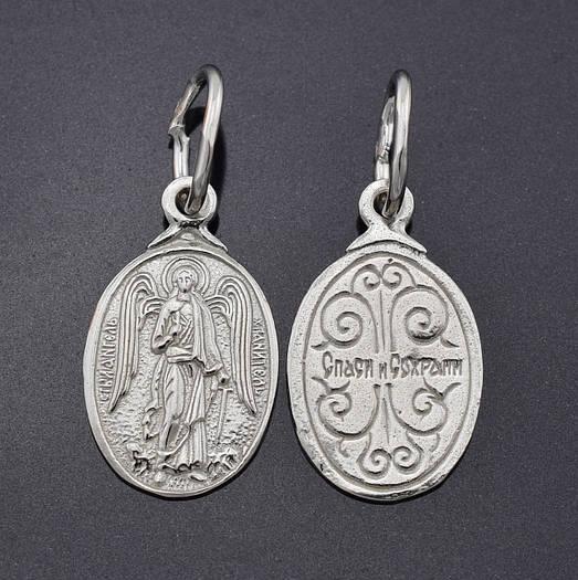 Серебряная иконка Ангел Хранитель, размер 24*10 мм, вес 1.01 г