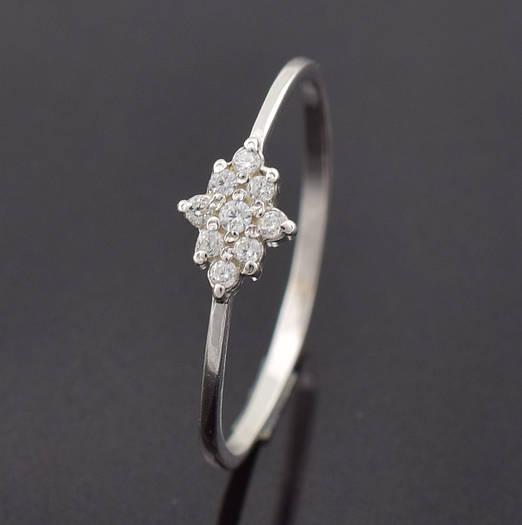 """Серебряное кольцо """"Небесная роса"""", размер 18, вес серебра 0.84 г"""