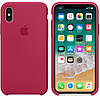 Силиконовый чехол Apple Silicone Case IPHONE Х / XS (Rose Red)