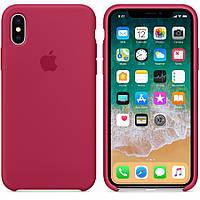 Чехол для iPhone Х/XS Silicone Case бампер (Rose Red)