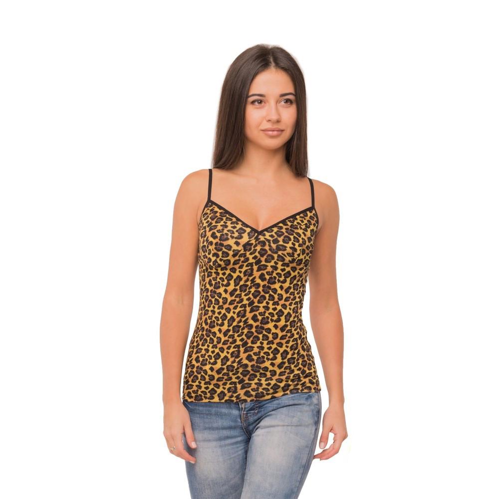 Приталенная женская майка Леопард 81-2140 (1)
