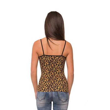 Приталенная женская майка Леопард 81-2140 (1), фото 2