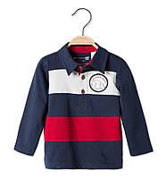 Детская Рубашка-поло в полоску для мальчика с длинным рукавом