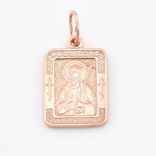 Серебряная иконка позолоченная, размер 29*15 мм, вес серебра 4.36 г