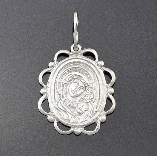 Серебряная иконка Божья Матерь