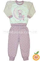 Пижама для девочки теплая сиреневая 92 размер