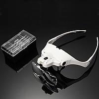 Увеличительные очки с LED подсветкой (Белые)