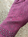 Замш женские перчатки/женские перчатки Стильные только оптом, фото 3