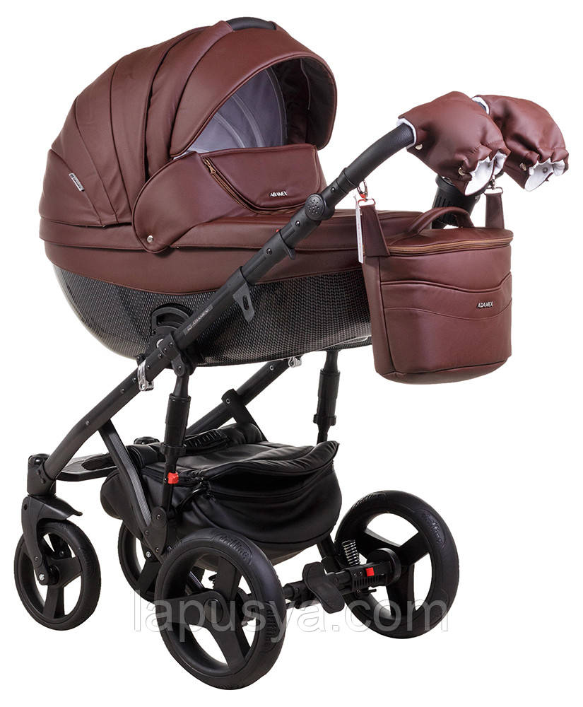 Дитяча коляска Adamex Monte Delux Carbon Ecco