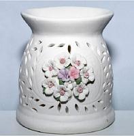 "Аромалампа ""Цветы"" (9*8*8 см) фарфор"