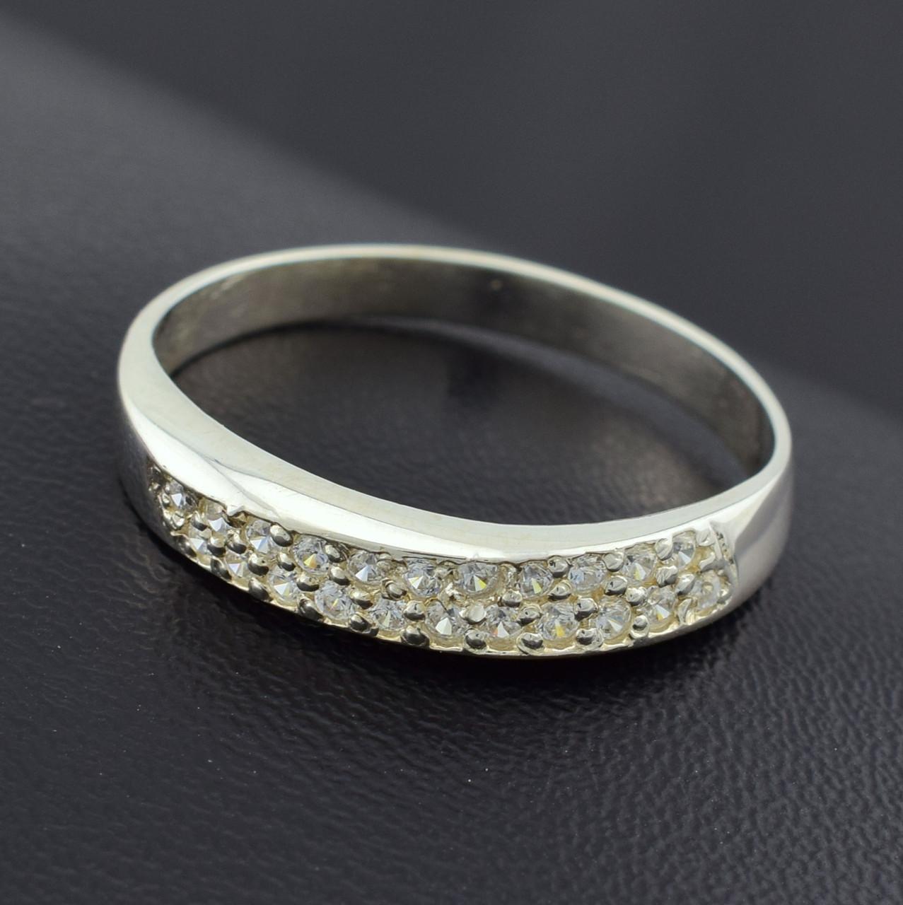 """Серебряное кольцо """"Мадина"""", вставка белыефианиты, вес 2 г, размер 15"""